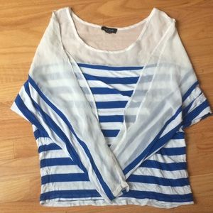Bebe nautical top